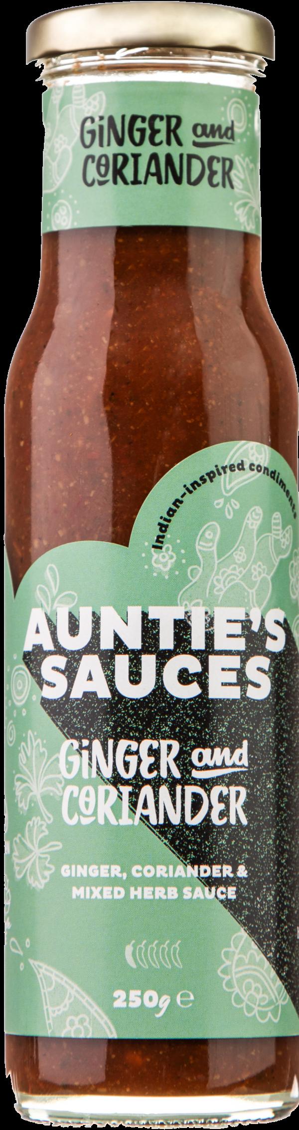 Auntie's Sauces Ginger & Coriander www.eatwithaunties.com
